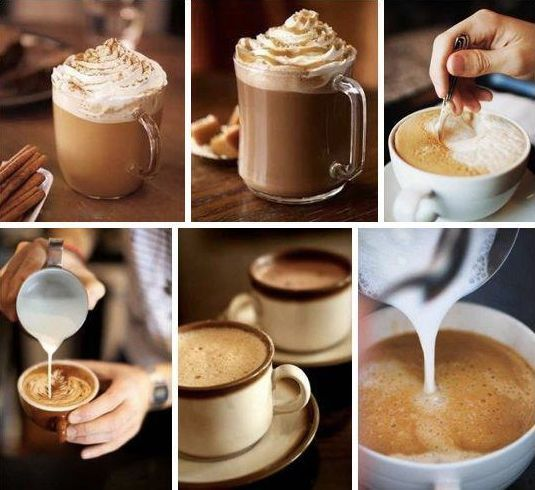 SOUND: http://www.ruspeach.com/en/news/1412/     Пора завтракать! [parà zàftrakat' ] - it's high time to have breakfast!   Закажите кофе! [zakazhìti kòfe! ] - Order a coffee! (an advice)   кофе со сливками [kòfe sa slìfkami] - coffee with cream   кофе с молоком [kòfe s malakòm] - coffee with milk   черный кофе [ch'òrnyj kòfe] - black coffee   большая чашка кофе [bal'shàya chàshka kòfe ]