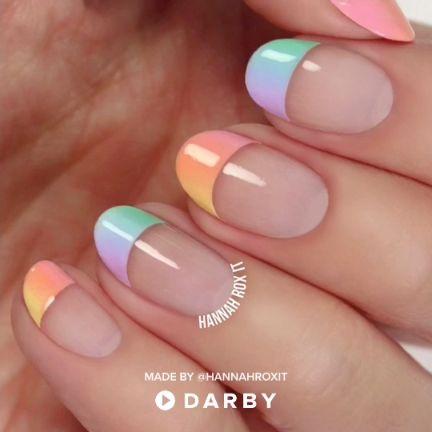 Pastel Ombre Nail Tutorial #nailart #naildiy #spring #darbysmart