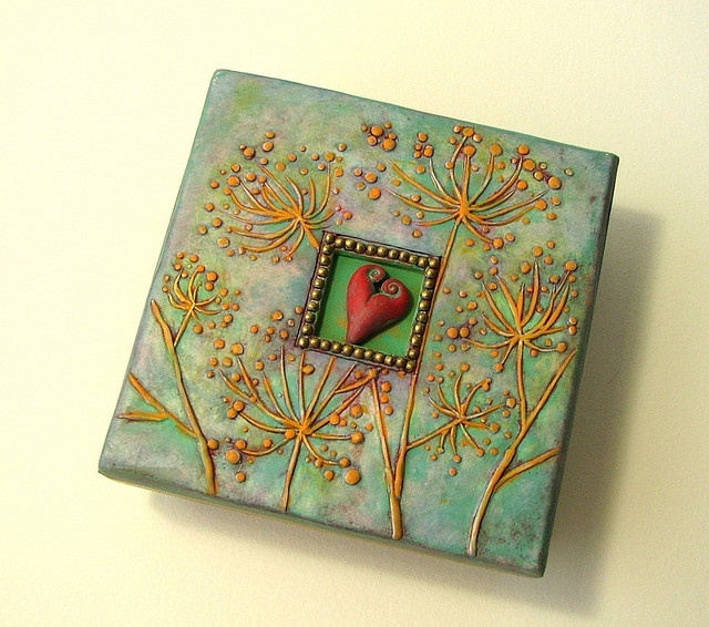 Beautiful polymer clay box!