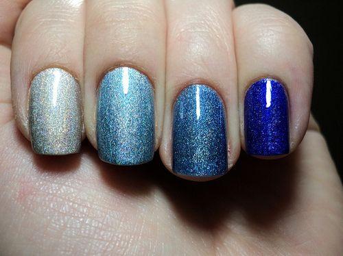 blues: Nail Polish, Nailart, Color, Makeup, Shadow, Beauty, Nails, Nail Art