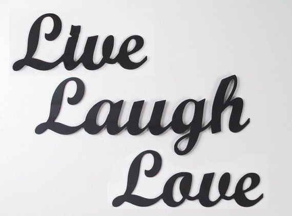 """Metal Wall Art Words """"Live Laugh Love"""" Wrought Iron Sign"""