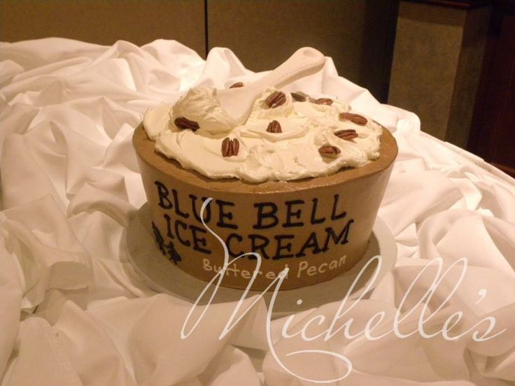 Bride And Grooms Cake Blue Bell