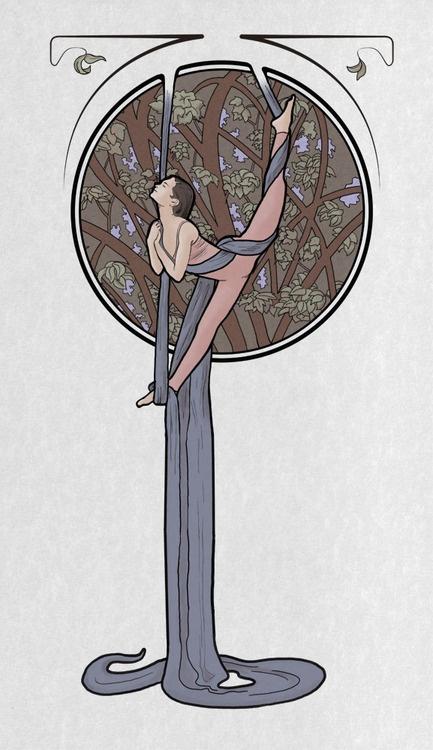 silks art nouveau style