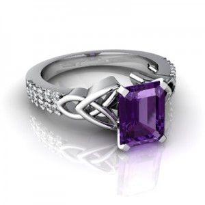 Amethyst Jewelry with a trinity symbol...love it!!