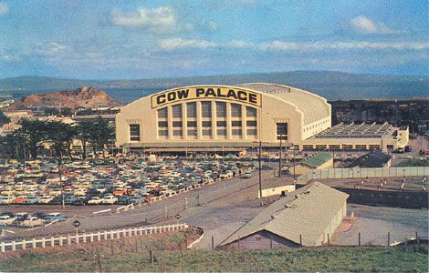 """""""Completed in 1941, the Cow Palace was designed as the Home for the Annual Grand National Livestock Exposition, Horse Show and Rodeo. The only indoor Stadium with a Cantilever roof, seats 18,500."""" #sanfrancisco"""