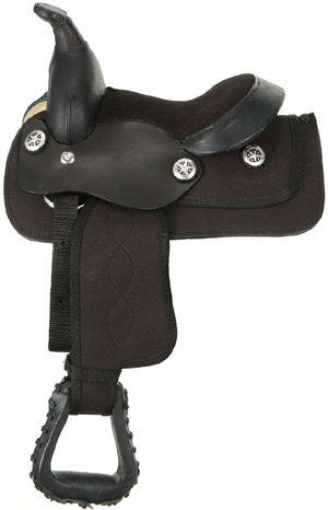 """King Series Miniature Synthetic Saddle by King. $139.00. No Additional Freight Charges Added! Miniature Horse Saddle! From King Series - Quality, style, and value distinguish this affordable line of saddles. Built cowboy tough with durable leathers, saddle trees, and hardware. Great-looking saddles made to last. Colorful synthetic saddle for minis. Durable leather jockey, pommel, and cantle. Seat Size: 8"""". Features Tree: Rawhide wrapped fiberglass Bars: Miniature ..."""