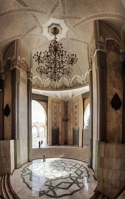 Hassan II Mosque, Casablanca, Morocco - - Maroc Désert Expérience tours http://www.marocdesertexperience.com