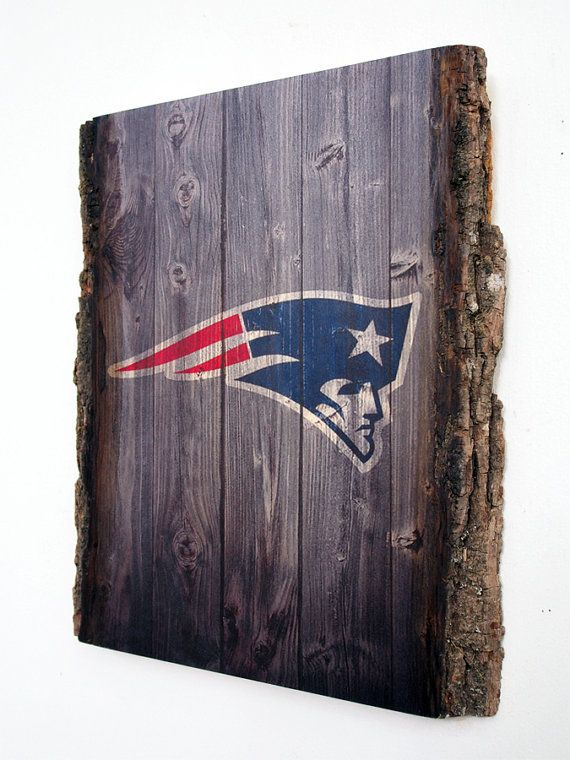 Decorative Wooden Plaque with New England Patriots by WOODSNACKS