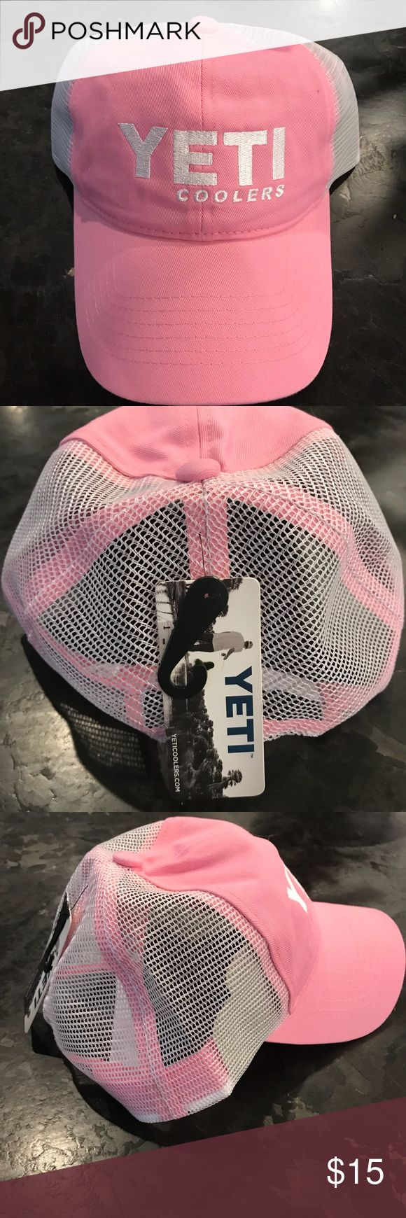 Pink Yeti Hat NWT Selling a pink Yeti hat that is new with tags. Retails for $19.99. Yeti Accessories Hats