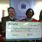 The Family Self-Sufficiency (FSS) Program at the Saginaw Housing Commission in December was awarded a donation of $2,000 from Charter Communications to assist clients in attaining self-sufficiency.
