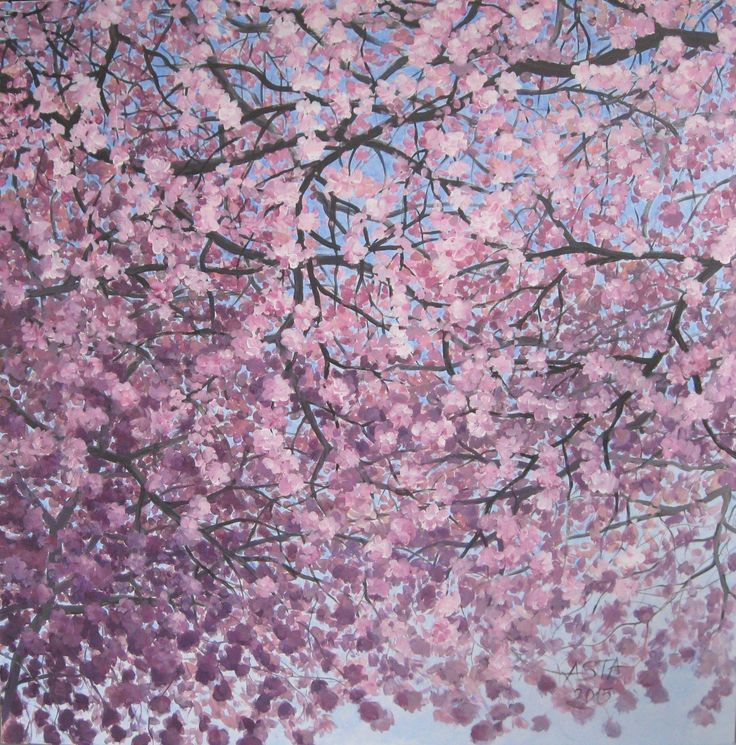 Blossoms 1 from Triptych 100cmx100cm ©Asta Rudminaite 2015