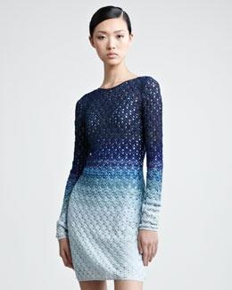 ombre dress, knit - missoni