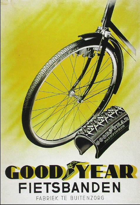 Indonesian Old Commercials:Good Year bicycle wheels - Made in Buitenzorg Bogor - Indonesia