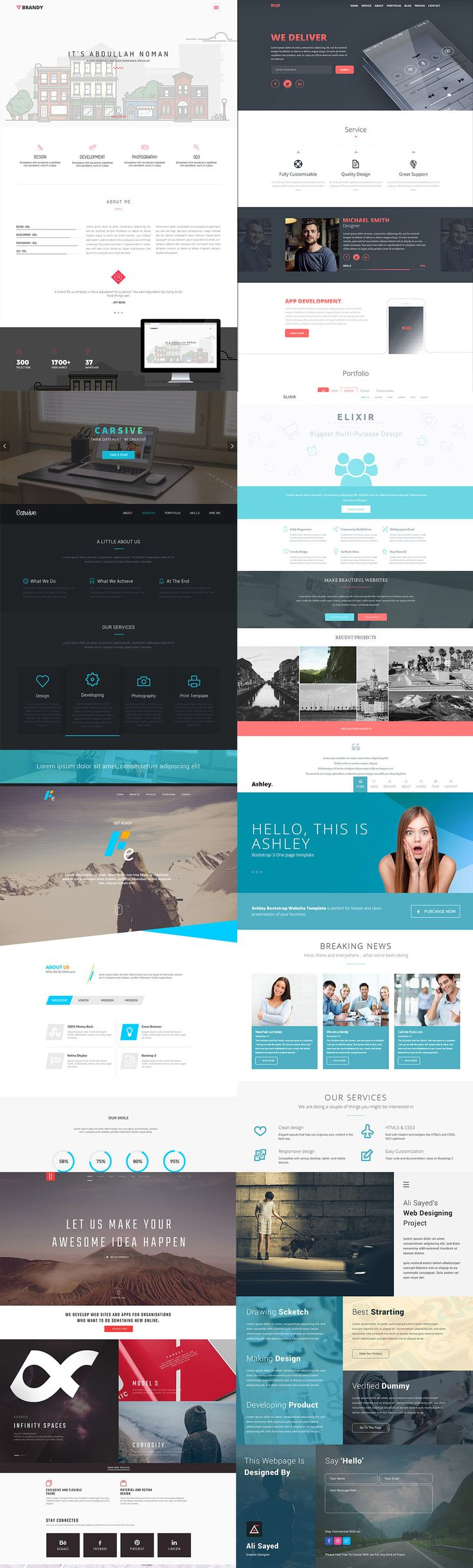 Here are some Free PSD Web Templates with impressive designs that you can freely use in your projects. You can readily code them to HTML to use it for your websites.