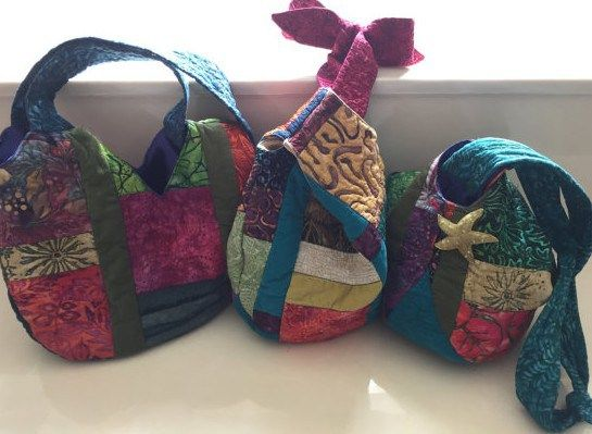 Quilted Adjustable Knot Boho Bags Pattern from ArtfulFrippery