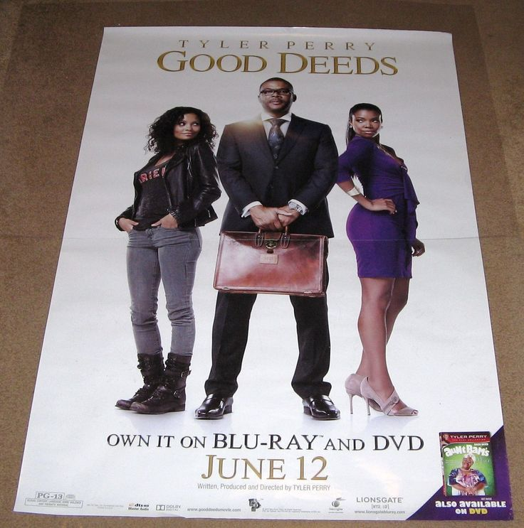 Good Deeds Movie Poster 27x40 (2012) Used Jamie Kennedy, Tyler Perry, Andrew Masset, Thandie Newton, Ashley LeConte Campbell, Beverly Johnson, Eddie Cibrian, Rebecca Romijn, Phylicia Rashad
