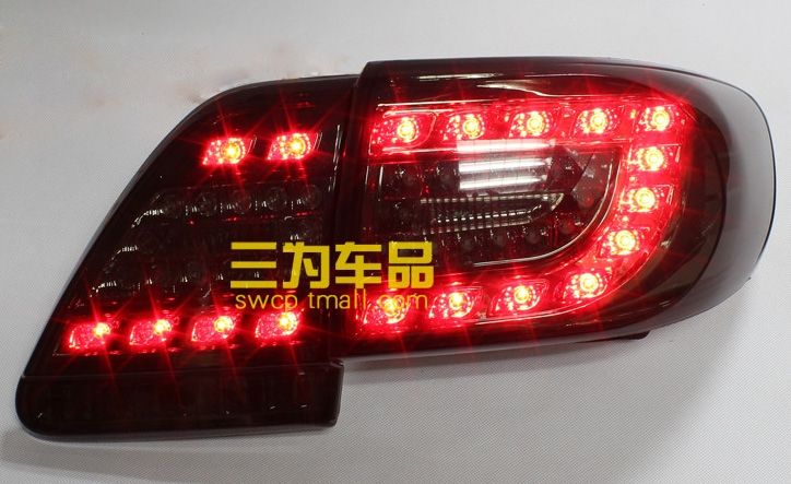 275.99$  Buy here - http://alitsx.worldwells.pw/go.php?t=32788001612 - Hireno Tail Lamp for Toyota Corolla 2011 2012 2013 Taillight Rear Lamp Parking Brake Turn Signal Lights 275.99$
