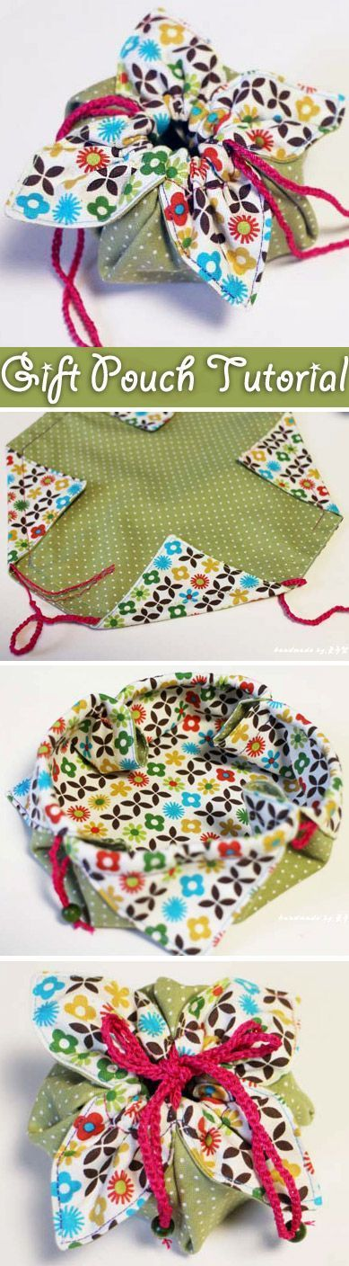 Little diy fabric gift pouch is an awesome way to give special gifts – it is the perfect size to gift some jewelry or other small items.(Diy Photo Crafts)