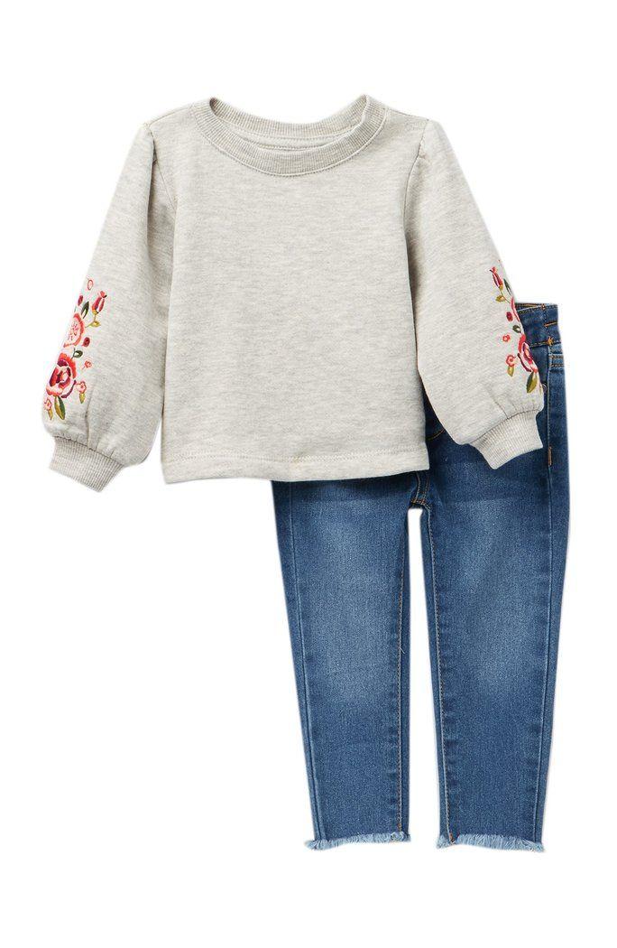 af366857085 Joe's Jeans - Puff Sleeve Top & Denim Set (Baby Girls) | Baby Girl ...