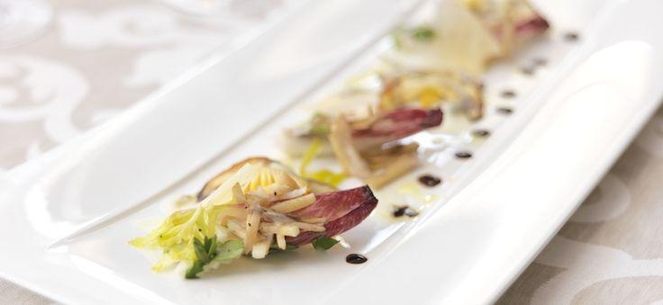 Porcini and Caesar Mushroom Salad with Gorgonzola and Parmesan - Taste by Four Seasons   Taste by Four Seasons