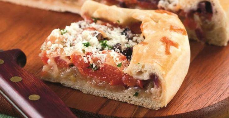A focaccia também pode ser servida sem recheio, com o pão. Fica uma delícia!