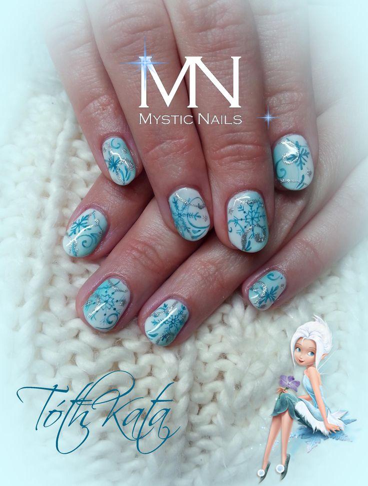 Ice fairytails nail art