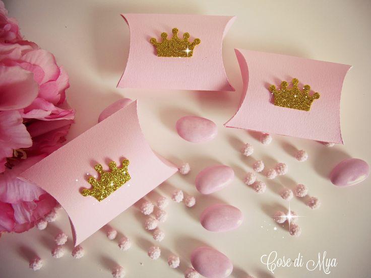 Scatoline principesche rosa e oro : Bomboniere di cosedimya
