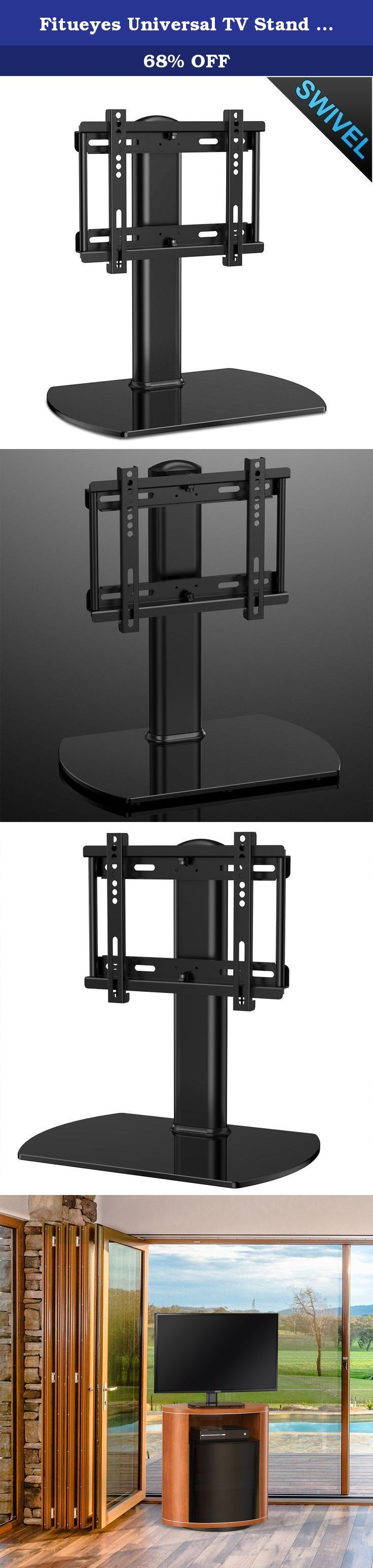 "Fitueyes Universal TV Stand /Base Swivel Tabletop TV Stand with mount for up to 37 inch Flat screen Tvs/xbox One/tv Component /Vizio Tv (TT104001GB). This universal tv stand looks simple, elegant and won't take a lot of sapce. This Universal TV Stand is your solution. It's small space size make it perfect for TV and can still hold your components and DVDs! The included mount holds up to a 37"" TV and hides all your cords down the back panel."