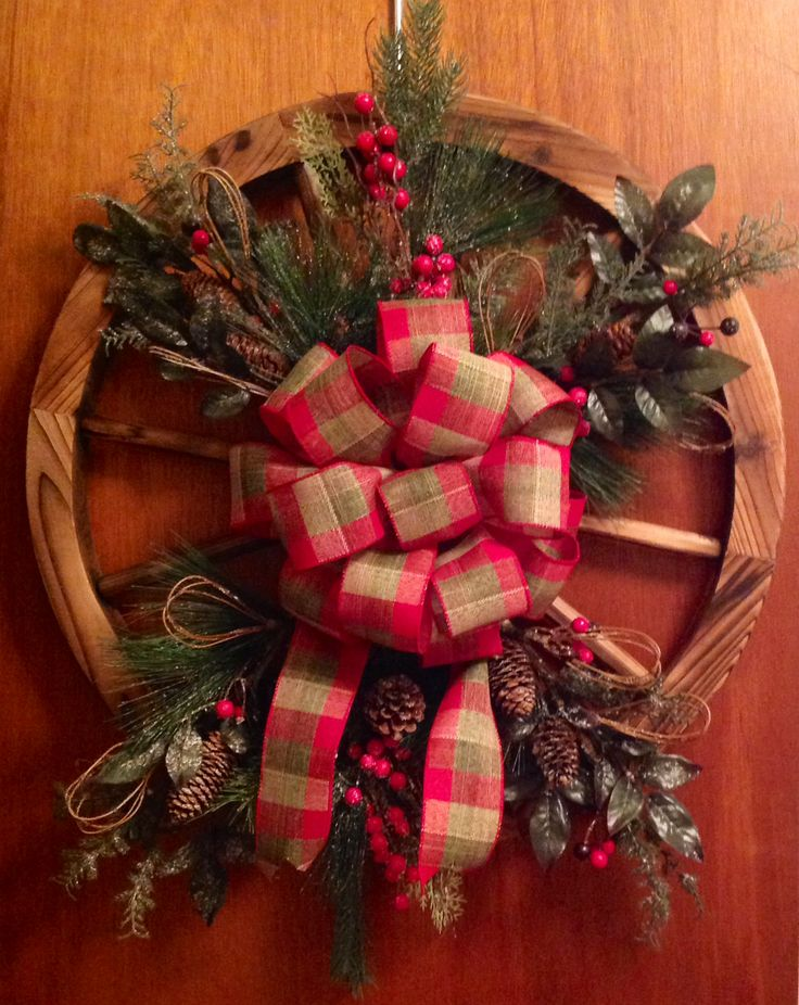 Wagon Wheel Door Wreath You Can Find Me On My Fb Page