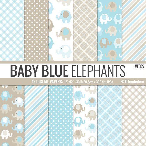 Papeles digitales para bebé con patrones de por eltendedero en Etsy