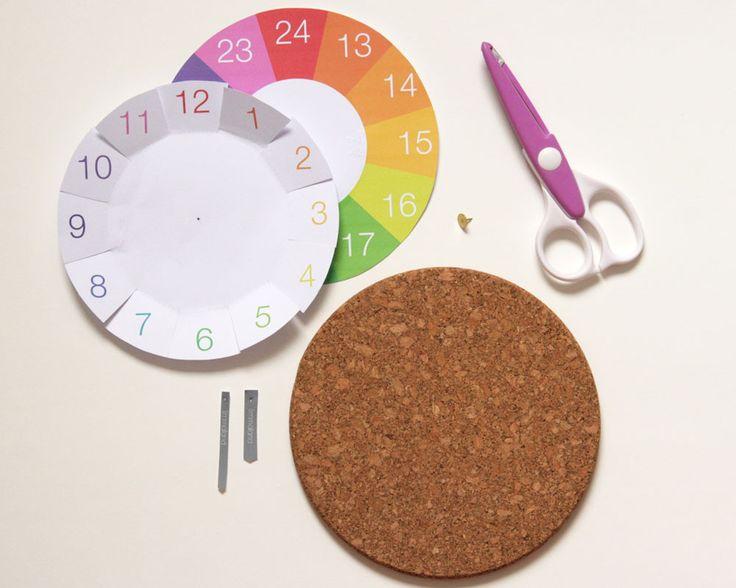 Uhrzeit lernen - IKEA Hack mit Korkuntersetzer - www.limmmaland.com/blog