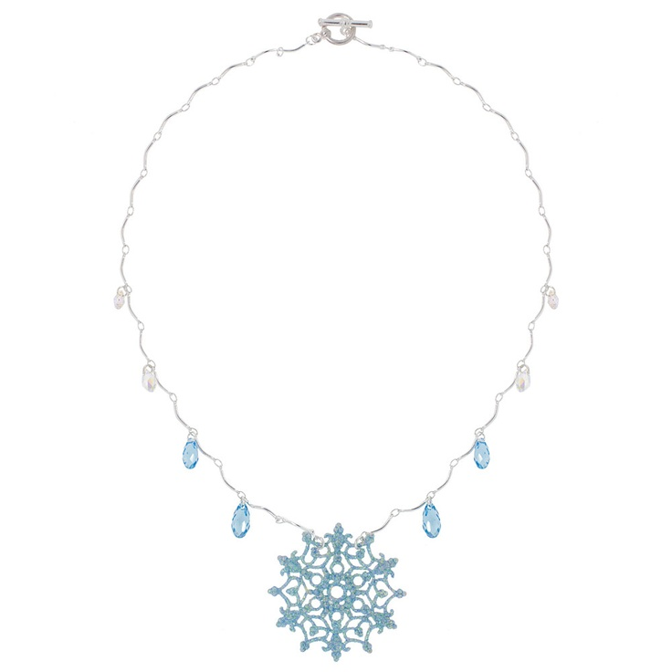 Glitter Snowflake Necklace | Fusion Beads Inspiration Gallery