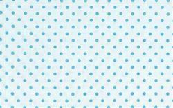 wit met blauwe stippen