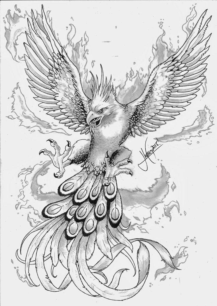 pintrine thybo nielsen on animaux | phoenix tattoo