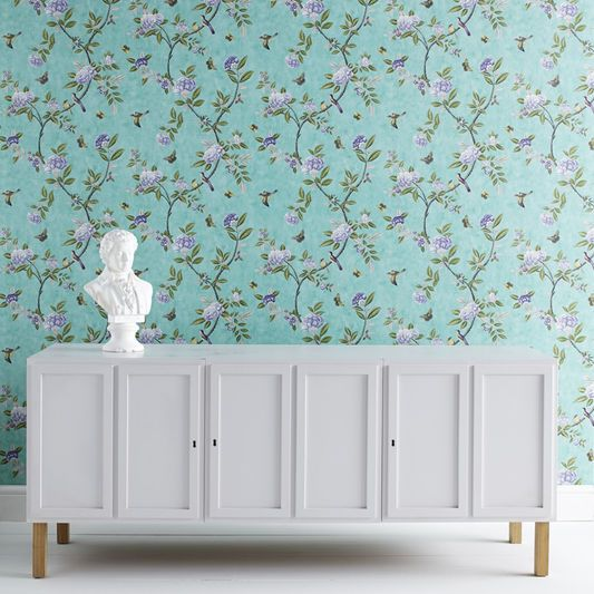 Chinoiserie Jade Wallpaper