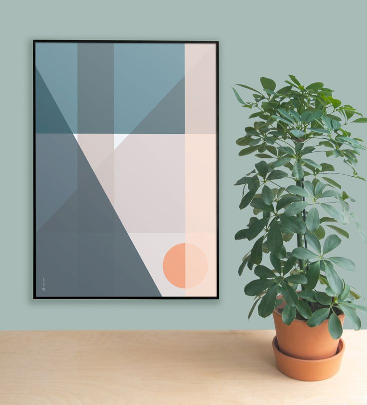 A composition of geometric surfaces and clear Scandinavian colors inspired by modernist architecture and the Bauhaus movement in the 1920s. The shapes meeting points are enhanced by the transparency of the colors and how they blend when overlapping. Digital illustration.