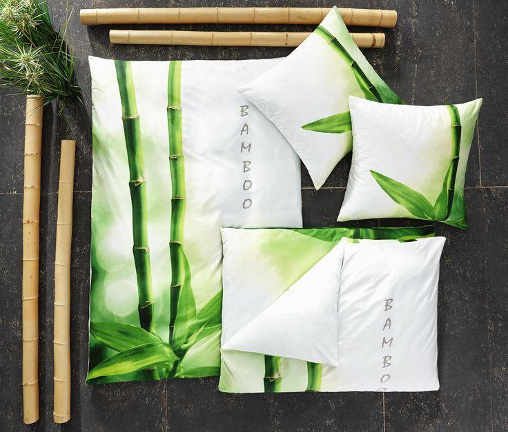 Weltweit gibt es ca. 1.500 Arten von Bambus. Eine besonders dekorative Sorte ist das Motiv Ihrer kuscheligen Bettwäsche von FLEURESSE. Das Farbenspiel aus hellen Tönen und Grün sorgt für Entspannung und schafft ein freundliches Ambiente, in dem Sie sich bestens erholen können. Lassen Sie sich in die Kissen sinken und genießen Sie die Qualität der Textilien von FLEURESSE!