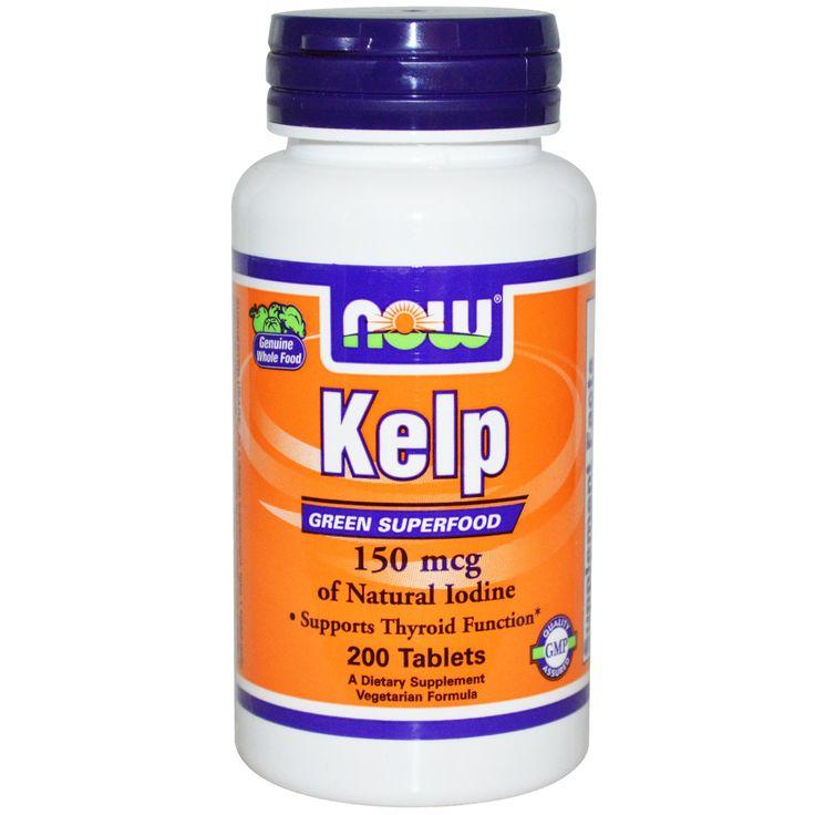 Jodium uit kelp (zeegroenten). Voor een traag werkende schildklier