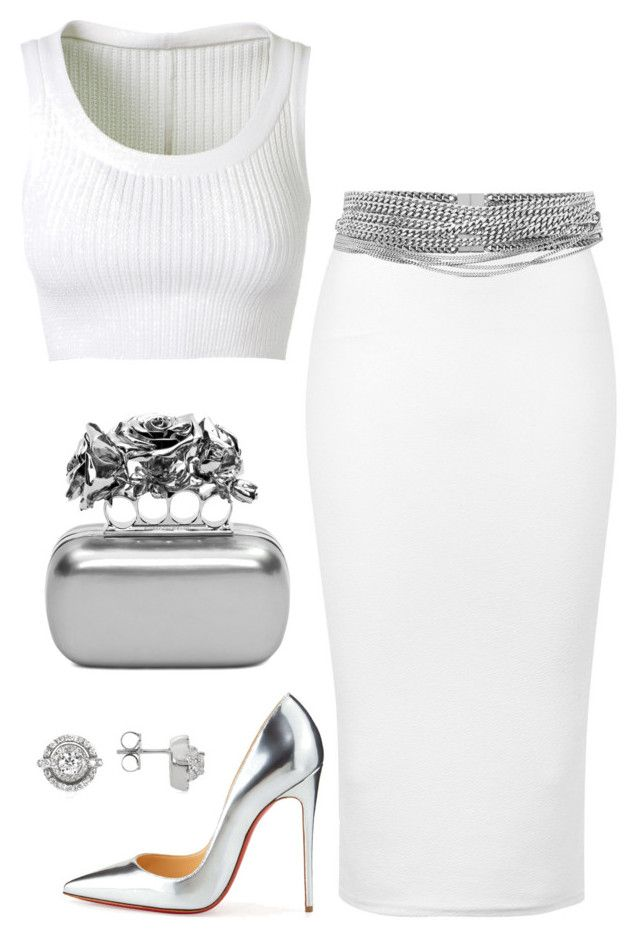 Untitled #563 by fashionkill21 on Polyvore featuring polyvore fashion style Alaïa TFNC Christian Louboutin Alexander McQueen Forzieri Yves Saint Laurent