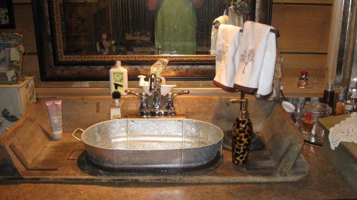 Galvanized Bathroom Sink Best 25 Bucket sink ideas on Pinterest