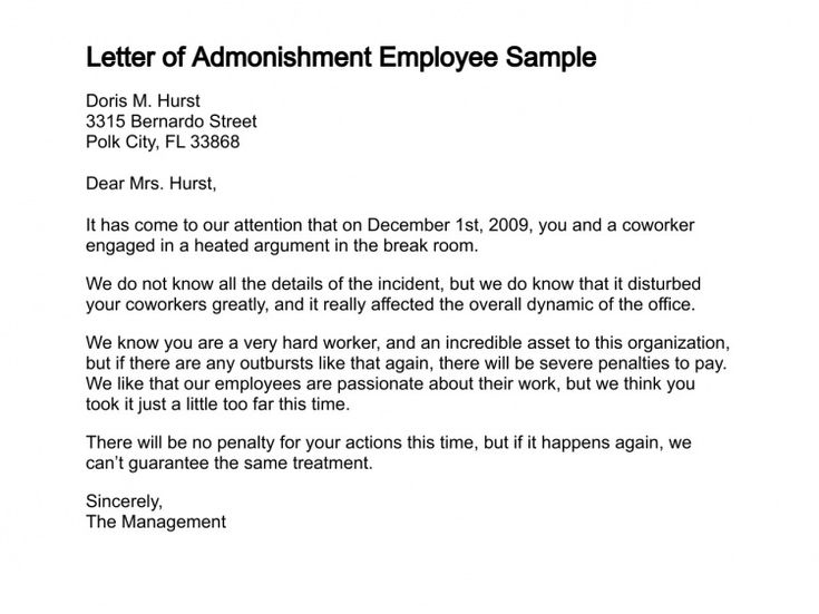 How To Write A Letter Of Admonishment  Submission Specialist