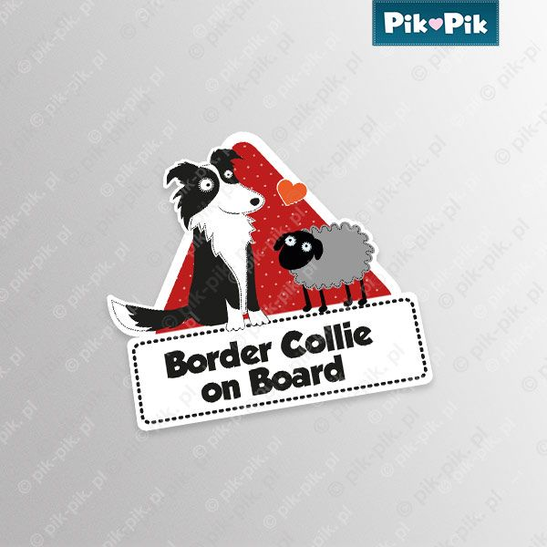 Border Collie. Car sticker