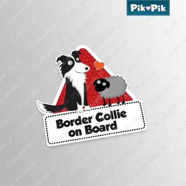 Border Collie. Car sticker