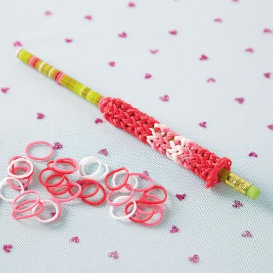 Rainbow Loom® Pencil Favor
