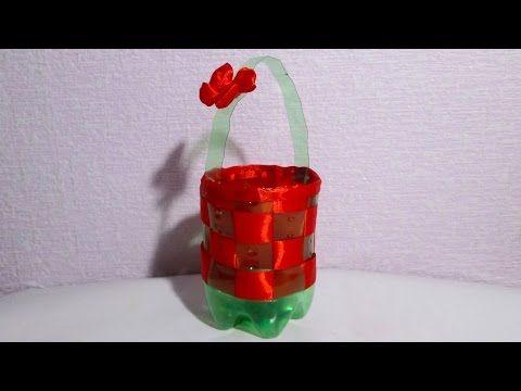 Пасхальная корзинка из пластиковой бутылки за 5 минут - YouTube
