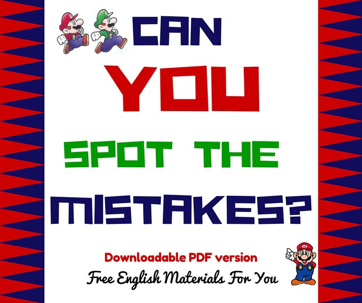 Can you spot the mistakes- English quiz - Free English Materials For You #learningEnglish #StudyingEnglish #English #ESL