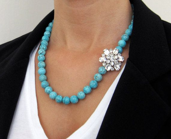 vintage piece with turquoise