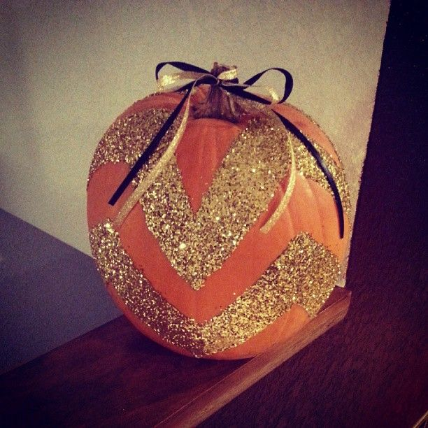 Sparkly Chevron Pumpkin -Something The Girls and I can do