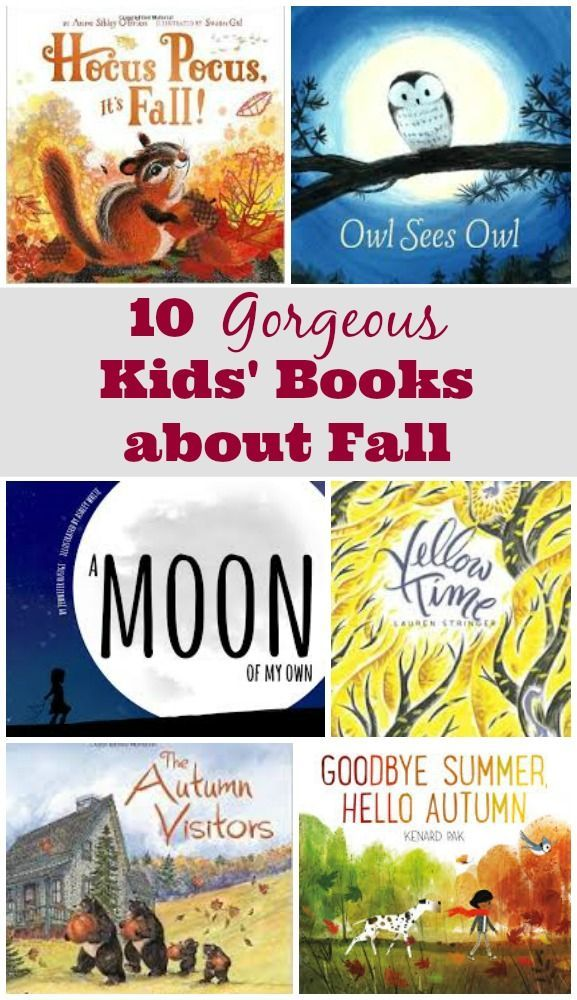 Beautiful Fall Kids Books about seasonal changes | Autumn Picture Books for kids