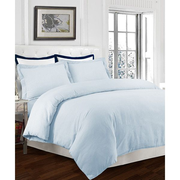 Marwah Sky Blue Oversize Flannel Duvet Cover Set ($55) ❤ liked on Polyvore featuring home, bed & bath, bedding, duvet covers, oversized bedding, sky blue bedding, flannel duvet set, marwah and flannel sham